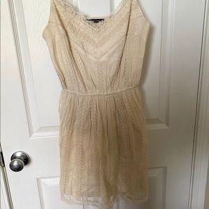 Abercrombie & Fitch beaded cream dress NEW
